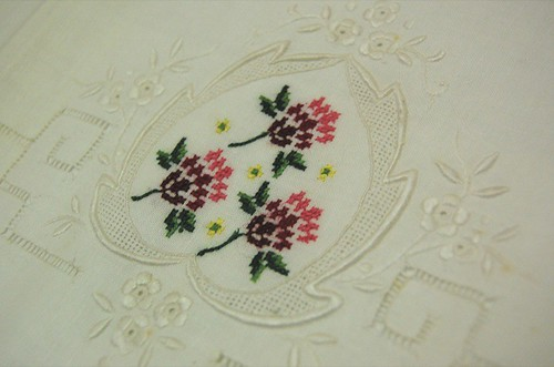 Thrifted - vintage embroidered pillowcases