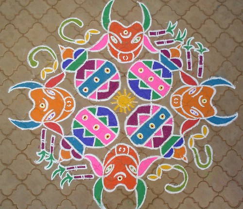 Kolam for Pongal 2008