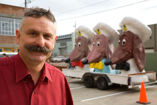 John Law & Doggie Diner Dog Heads