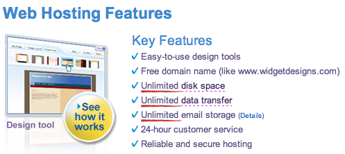 Yahoo! Web Hosting: Unlimited Data Transfer