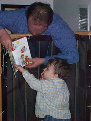 354 - Hey Daddy, what does that say? (momtodex2) Tags: daddy dex dex365 feb365