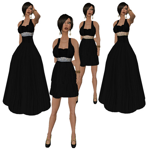 The Cosmo Dress/Gown Deluxe Edition - Black!