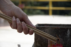 Palau Ubin - Incence sticks - Chinese Temple V (images by helen) Tags: hands singapore chinesetemple incence palauubin