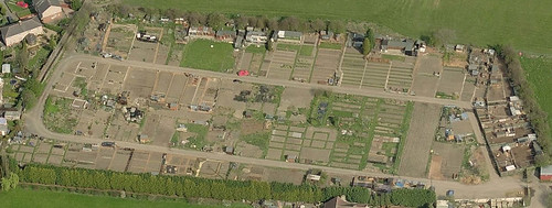 Green Lane Allotments Aerial view