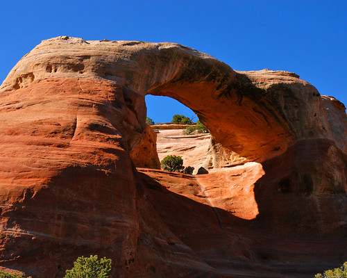 Cedar Tree Arch from a distance, McInnis Canyons National Conservation Area