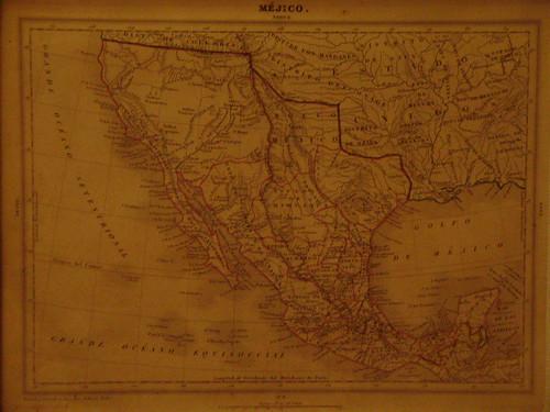 mapa de mexico en 1800. Palacio Nacional - Mapa