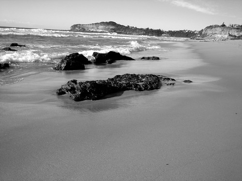 Black And White Ocean Pictures. Black and White Beach Photo