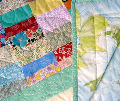 lap quilt detail with backside