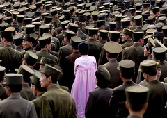 North korean army Pyongyang North Korea  (Eric Lafforgue) Tags: pictures travel woman girl asian soldier army photo women war asia military picture korea kimjongil asie coree journalist militaire soldat journalists northko