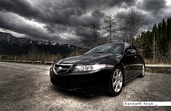 2004 Acura TSX 6MT (Kenneth Kwan) Tags: sky canada car kananaskis cloudy outdoor overcast wideangle alberta acura hdr tsx canoneos30d sigma1020mmf456exdc kennethkwan