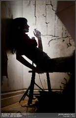 Violina: 1 of 5 (Jef Harris) Tags: copyright woman sexy net home wall bench studio photography photo back cool chair punk chaos floor room smoke ottawa goth raquel smoking crack hardcore bitch jef behind harris stool academy scenes leaning nevado