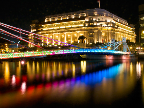 Colorful Cavenagh Bridge