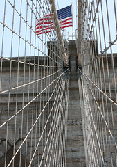 Brooklyn Bridge (jerseygal2009) Tags: city bridge ny newyork brooklyn brooklynbridge eastriver suspensionbridge steelwire