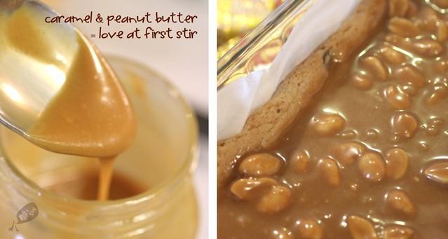 Peanut Butter Cup Caramel Bars