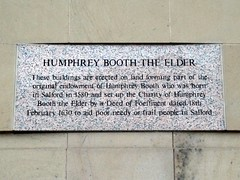 Photo of Humphrey Booth stone plaque