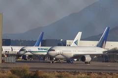 ?, VT-BDQ Boeing B-757 Blue Dart c/n 26276, N68159 Boeing B-767 United c/n 30438 (eLaReF) Tags: phoenix graveyard airplane aeroplane storage derelict wfu goodyear gyr kgyr