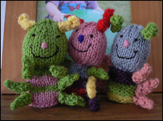 Ravelry: Caterpillar Finger Puppets pattern by Fiona McTague