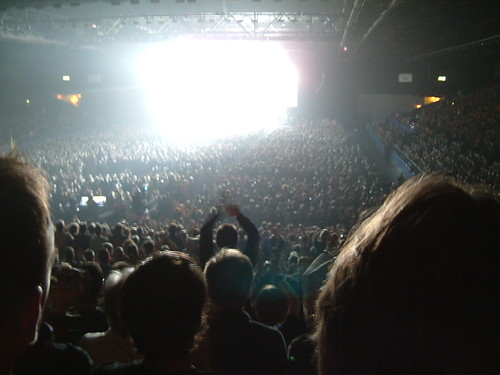 Audience Illuminated In White