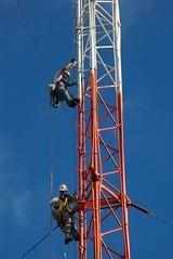 DSC_0006 (sara97) Tags: hardhat bluesky cable rope broadcasttower safetyharness workboots kdhxcommunitymedia photobysaraannefinke towercrew climbinggloves projectgroup2000atkdhxtowersite independentmusicplayshere