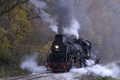 Steamed in Boone, Iowa (Thad Roan - Bridgepix) Tags: china railroad autumn trees black color fall midwest track smoke engine rail iowa steam foliage locomotive traintrack boone railfan railfanning mywinners abigfave anawesomeshot boonescenicvalleyrailroad