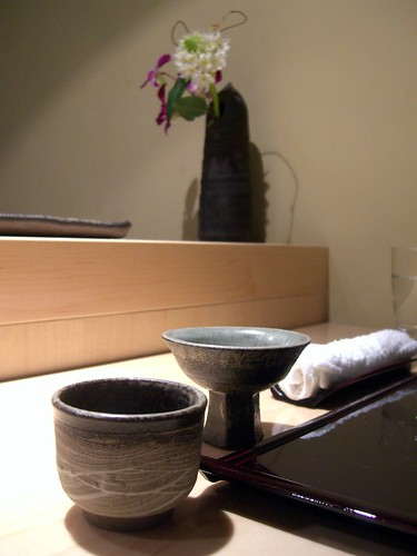 Sake Cup choices - Tempura Hajime