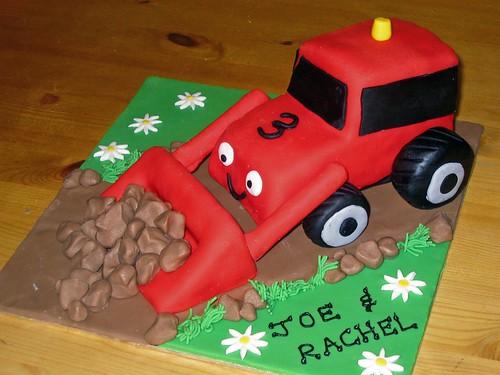 Fantastic Red Digger Cake Beautiful Birthday Cakes Funny Birthday Cards Online Necthendildamsfinfo