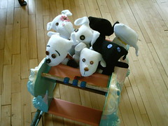 More Doggies on their way (shebrews) Tags: dog animal stuffed doll traditional plush softies handcrafted etsy sockandglove glovedog glovedogs
