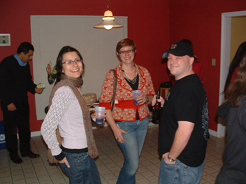 mete's party. me, amelia, and brian.