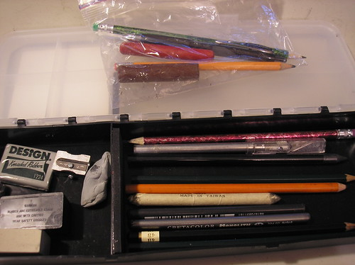 art bin and ziploc