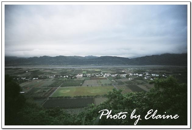 由鹿野高台眺望龍田村