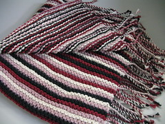 Mom's Fringed Striped Lap Shawl