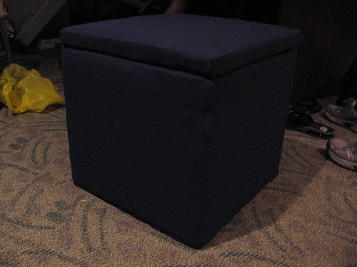 finished ottoman/hamper, closed