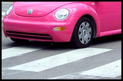 New Beetle (Natasja Valentijn) Tags: pink color car florida miami beetle miamibeach southbeach newbeetle sobe oceandrive sunshinestate top20pink