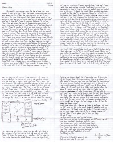 Letter from Brian, 26 November 1999