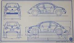 VW new beetle blueprints (define23) Tags: vw bug volkswagen collection blueprint newbeetle collectibles vwbug vwbeetle carblueprint