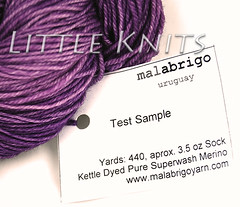 Malabrigo Sock Test Skein