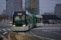 Toyama Light Rail (tsuda) Tags: tlr japan train geotagged twilight ttc illumination tram rail toyama lrv da40mm   geo:lat=367040164 geo:lon=1372147161