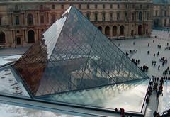 Reflexiones prismticas.... (eclogita) Tags: paris lluvia edificios louvre reflejo francia pirmide
