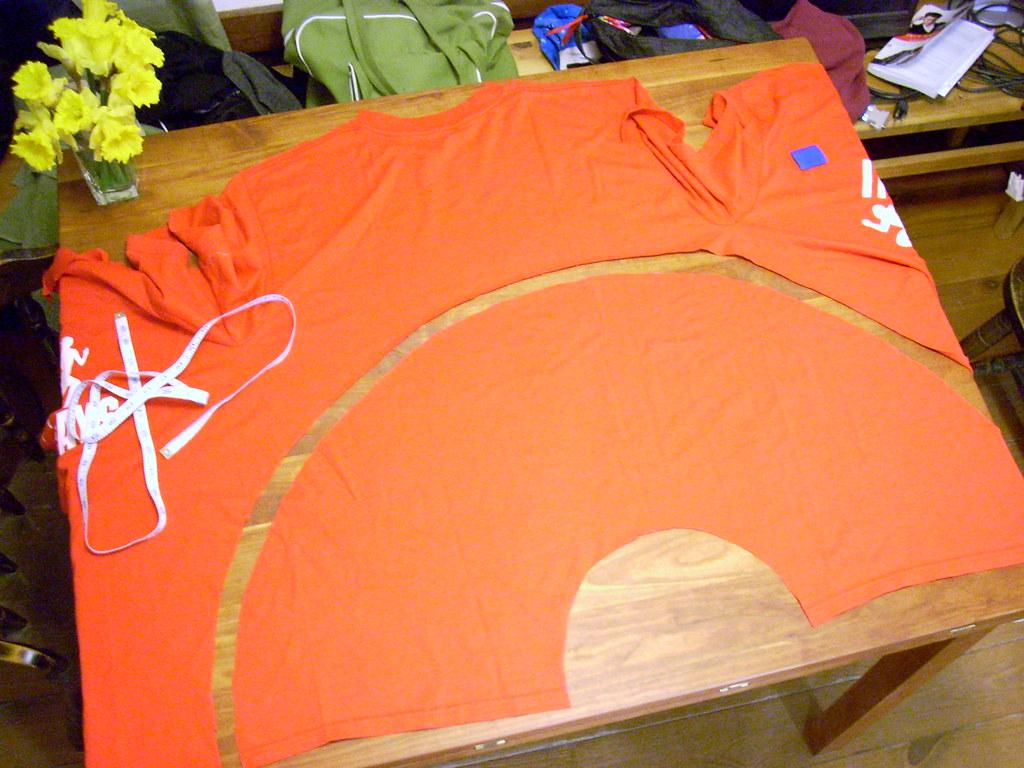 circle skirt from a T-shirt