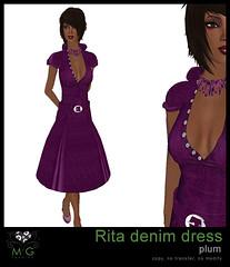 [MG fashion] Rita denim dress (plum)