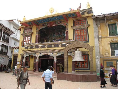 Monastery overlooking Boudhnath Stupa