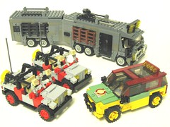 Vehicles (psiaki) Tags: lego jeep rv suv jurassicpark moc