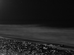Relax (Renmarc) Tags: sea bw white black beach night stars long exposure renmarc