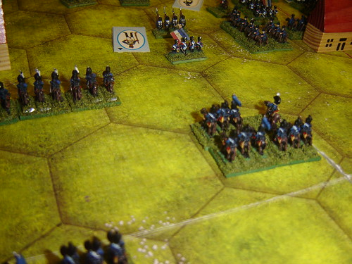 Prussian Curassiers threaten French in square