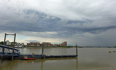 Biblical Sky over Woolwich (radio53) Tags: woolwich london thames pier royal arsenal se18 river water sky clouds storm weather meteorology panasonic lumix lx7