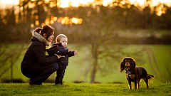 My Little Family At Sunset (James W Atkins) Tags: sunset friday afternoon family toddler dog cavalierkingcharlesspaniel cavalierkingcharles ryan wife littlefamily bokeh