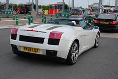 Lamborghini Gallardo Spyder (D's Carspotting) Tags: lamborghini gallardo spyder france coquelles calais white 20100613 rx58lgz le mans 2010 lm10 lm2010