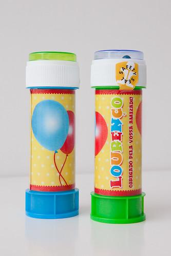 Bolinhas de Sabão Tema Balões