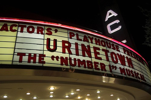 URINETOWN marquee