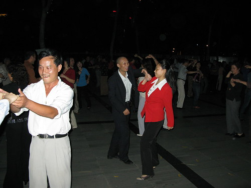 Late night dancing outside - Shanghai